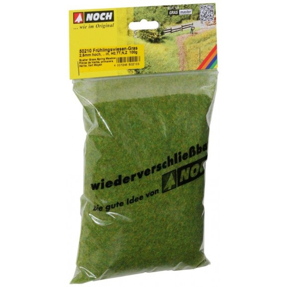 NOCH - 50210 - Scatter Grass Spring Meadow 2,5 mm, 100 g H0,TT,N,Z