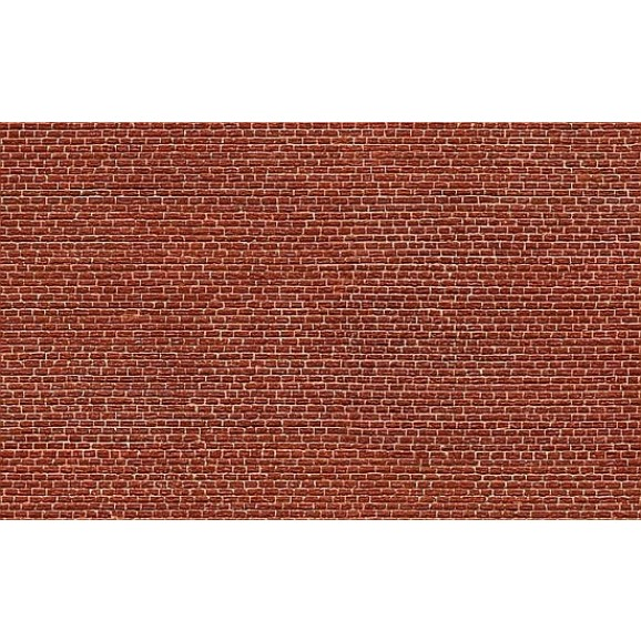 NOCH - 56610 - 3D Cardboard Sheet Clinker red H0