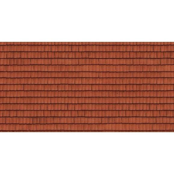 NOCH - 56670 - 3D Cardboard Sheet Roof Tile red H0