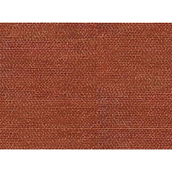 NOCH - 56910 - 3D Cardboard Sheet Clinker , red N SCALE