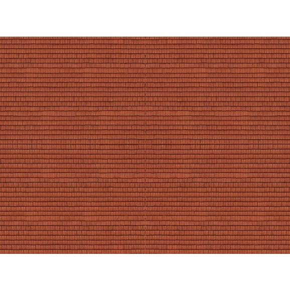 NOCH - 56965 - 3D Cardboard Sheet Roof Tile , red N SCALE