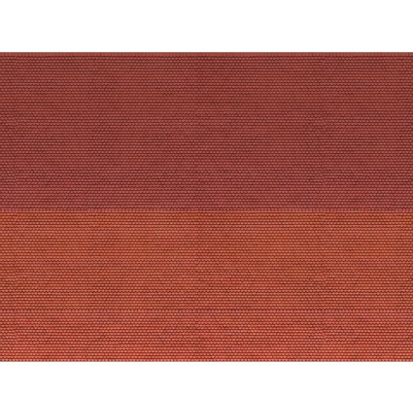 NOCH - 56970 - 3D Cardboard Sheet Plain Tile , red N SCALE