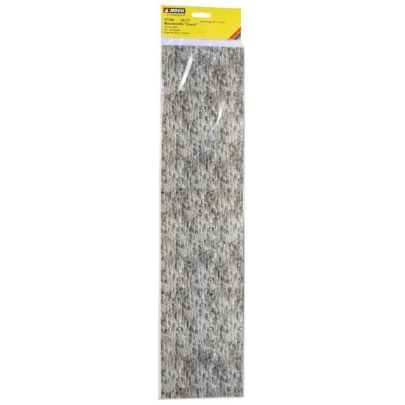 NOCH - 57700 - Carton Wall Granite extra long, 64 x 15 cm H0,TT