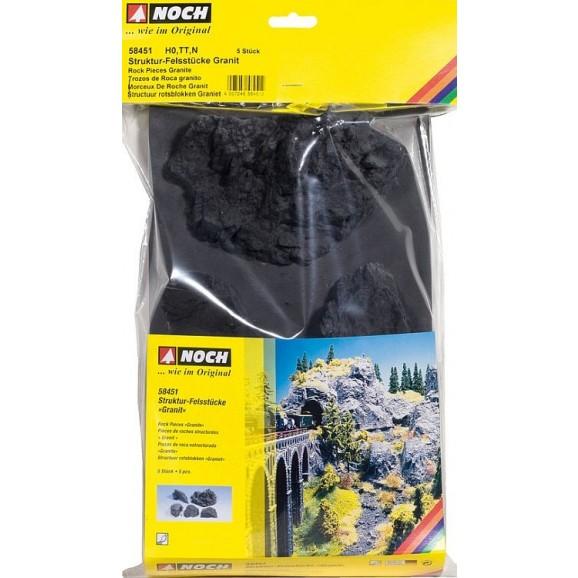 NOCH - 58451 - Rock Pieces Granite 5 pieces H0,TT,N