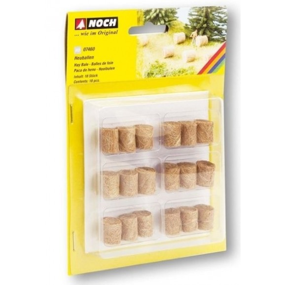 NOCH - 07460 - Hay Bales 18 pieces H0