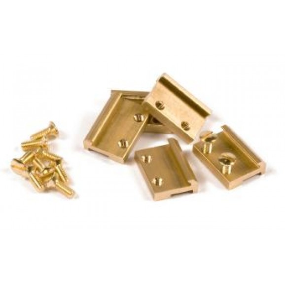 MASSOTH - 8100150 - Rail Clamps G Scale, brass;19mm (50/pa