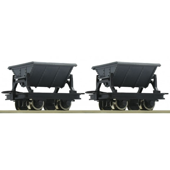 ROCO - 34600 - 2pc.set: tipping wagons HOe scale