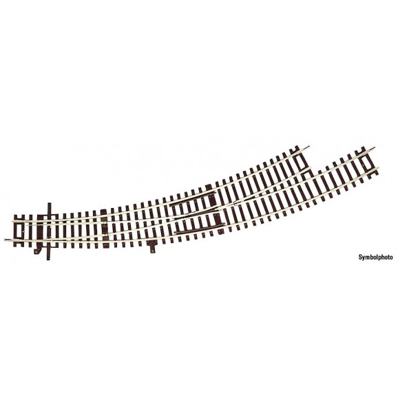 ROCO - 42472 - Curved switch R3/R4 left without bedding HO scale