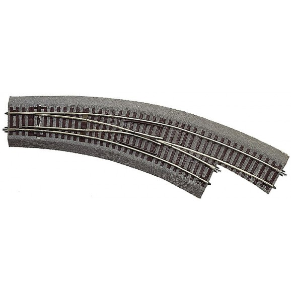 ROCO - 42573 - Curved switch R3/R4 right with bedding HO scale