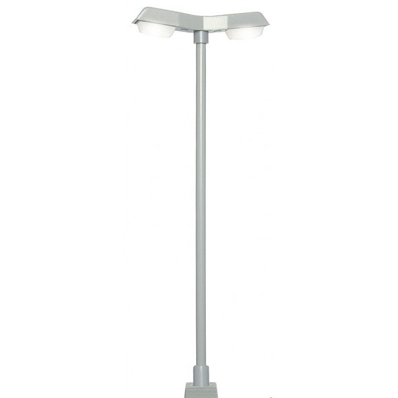 Viessmann - 60971 - H0 Street light modern, double,with plug-in socket, 2 LEDs white