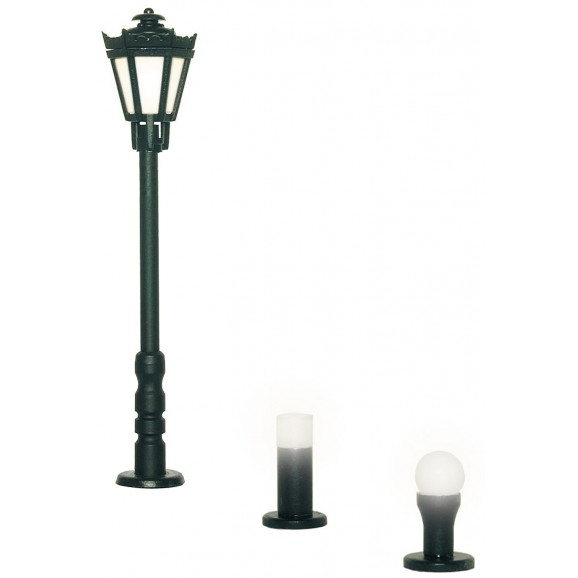 Viessmann - 6160 - H0 Garden lamps set, 3 lights, black