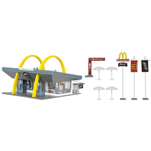 Vollmer - 43634 - H0 McDonald`s fast food restaurant with McDrive