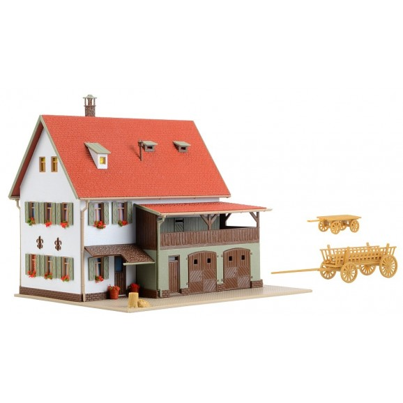 Vollmer - 43721 - H0 Farm house with shed