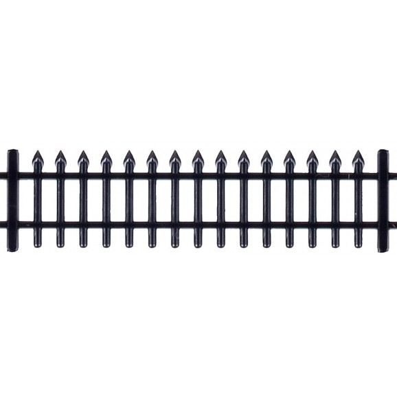 Vollmer - 45007 - H0 Iron fence black, 192 cm